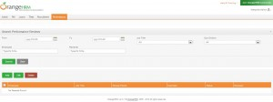 Performance Management Screen from OrangeHRM