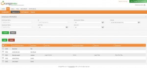 Personal Information Management Screen